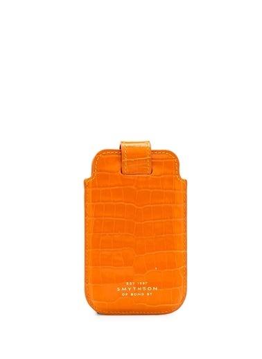 Smythson Cep Telefonu Kılıfı Oranj
